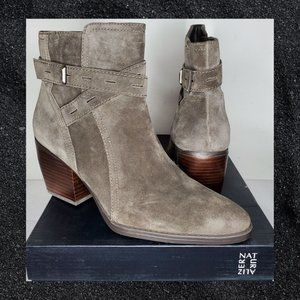 Naturalizer Fenya with buckle Taupe Suede Size 8
